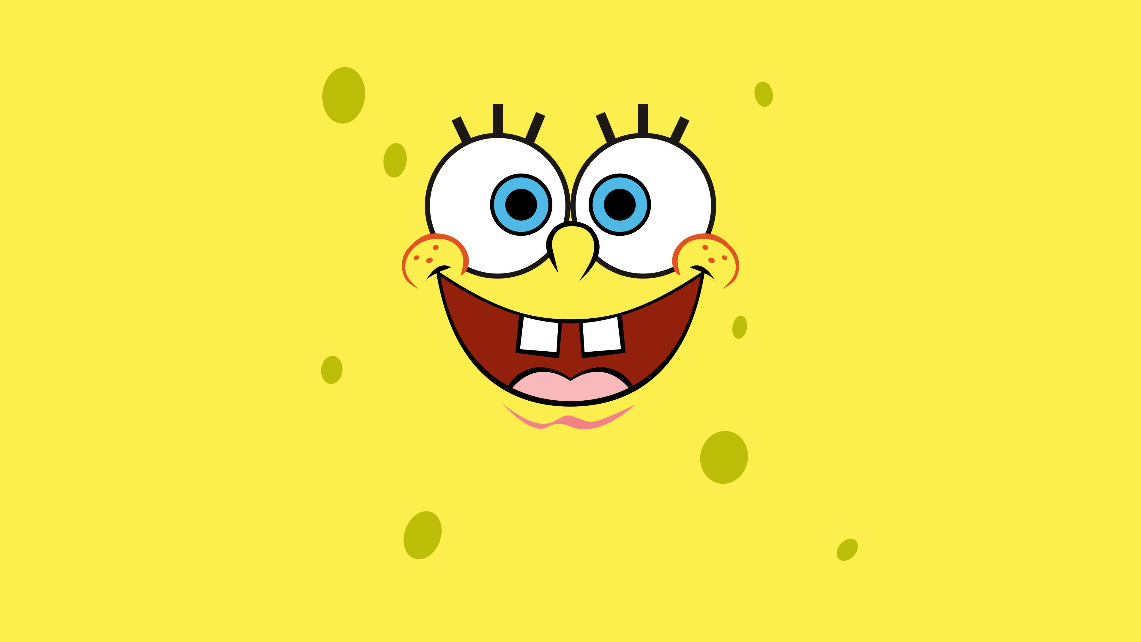 General 3840x2160 caricature Bob Eggleton SpongeBob SquarePants TV Series cartoon face simple background yellow background yellow humor