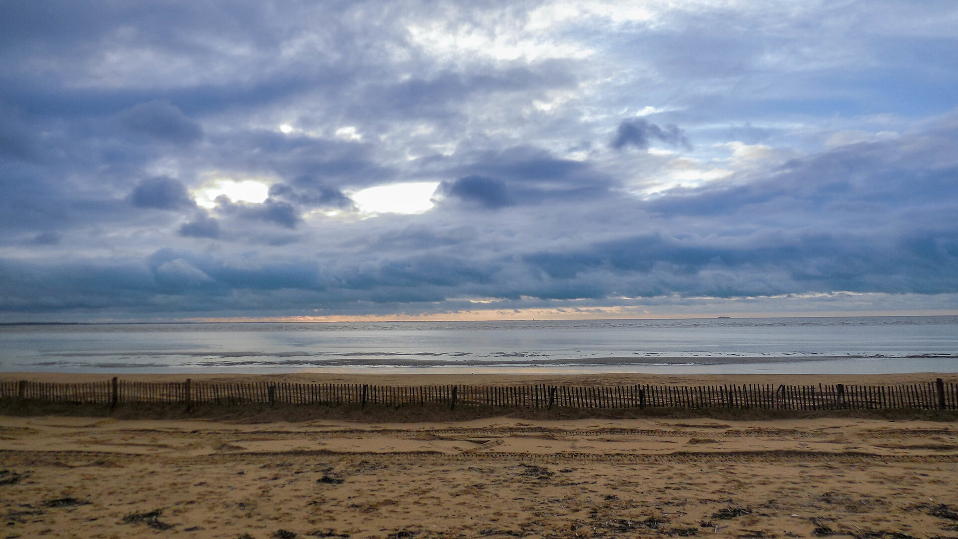 General 1920x1080 nature landscape sea sky clouds beach sand shore horizon