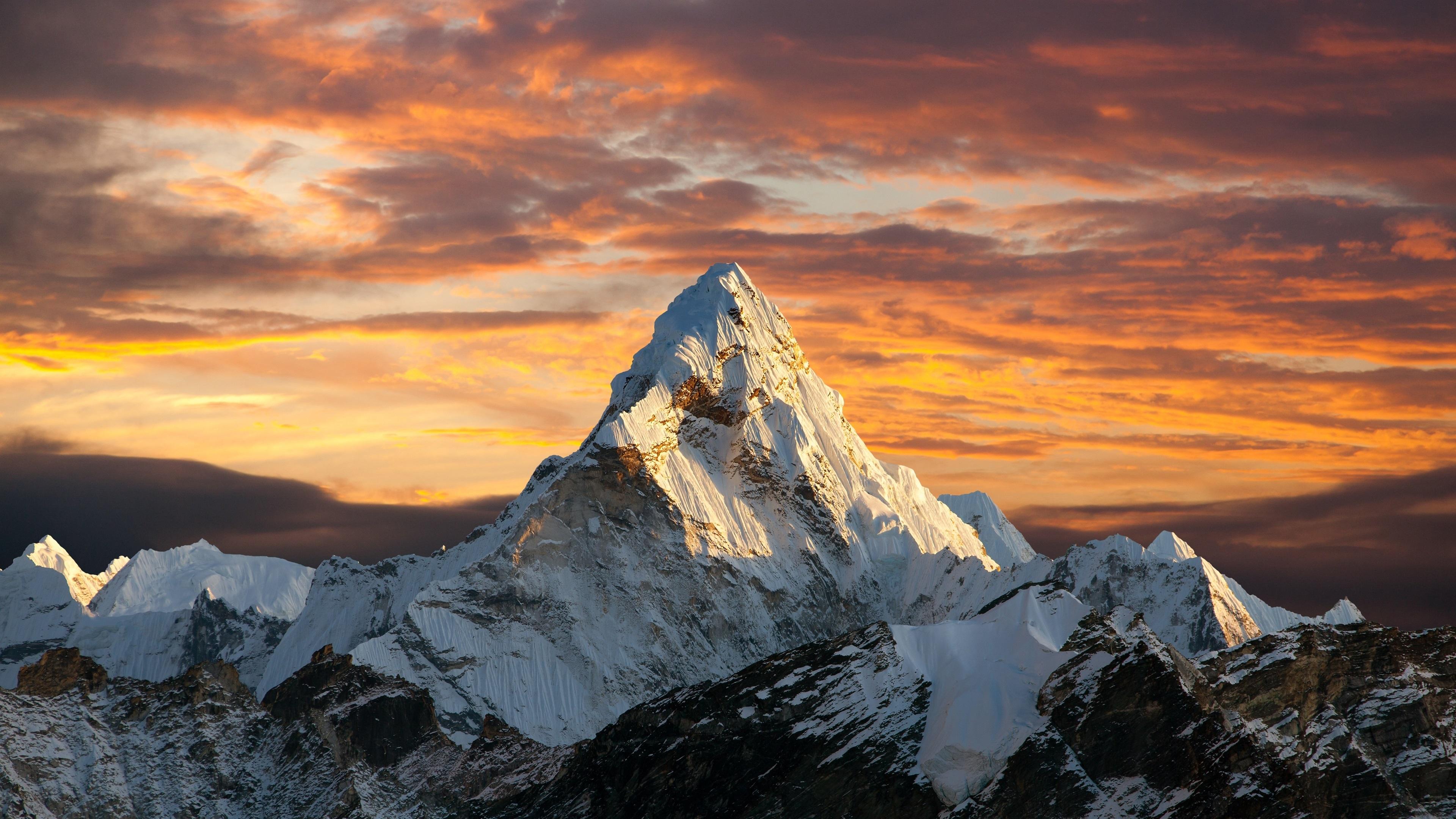 General 3840x2160 clouds sunset mountains Alps Matterhorn nature