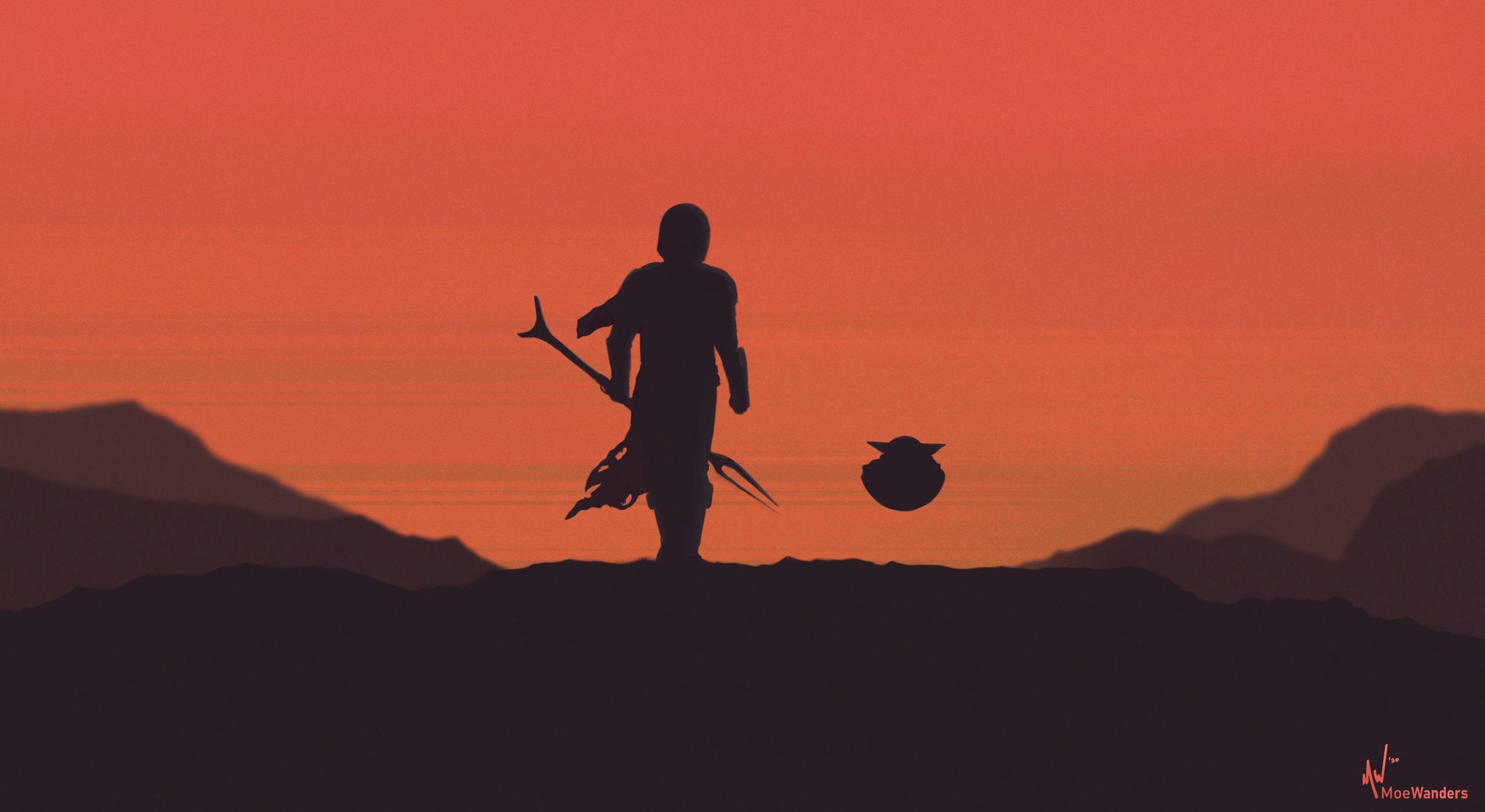 General 2560x1400 digital art The Mandalorian science fiction series Momo (artist)