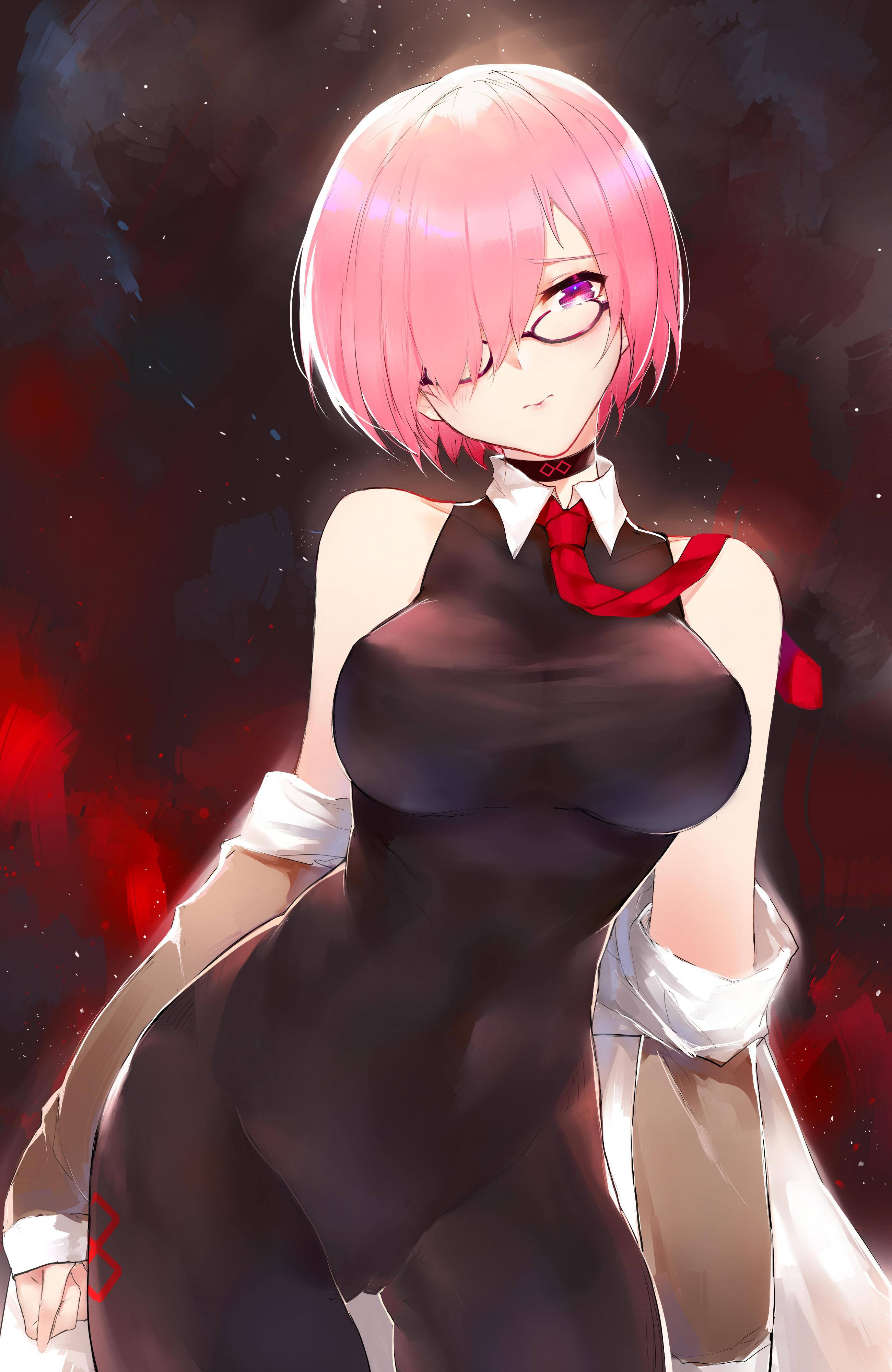 Anime 2600x4000 bodysuit cameltoe Fate/Grand Order glasses Mash Kyrielight hard nipples