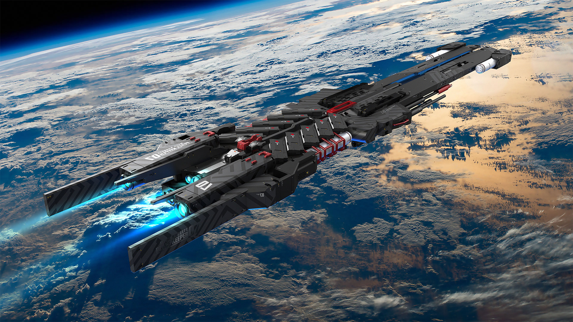 General 1920x1080 science fiction space spaceship