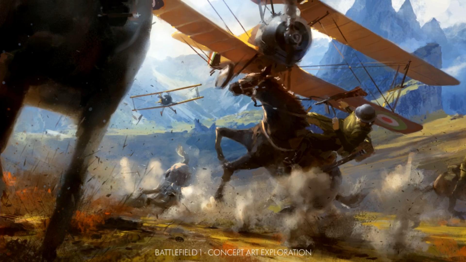 General 1920x1080 Battlefield Battlefield 1 war horse soldier video games concept art PC gaming EA Games EA DICE military aircraft aircraft