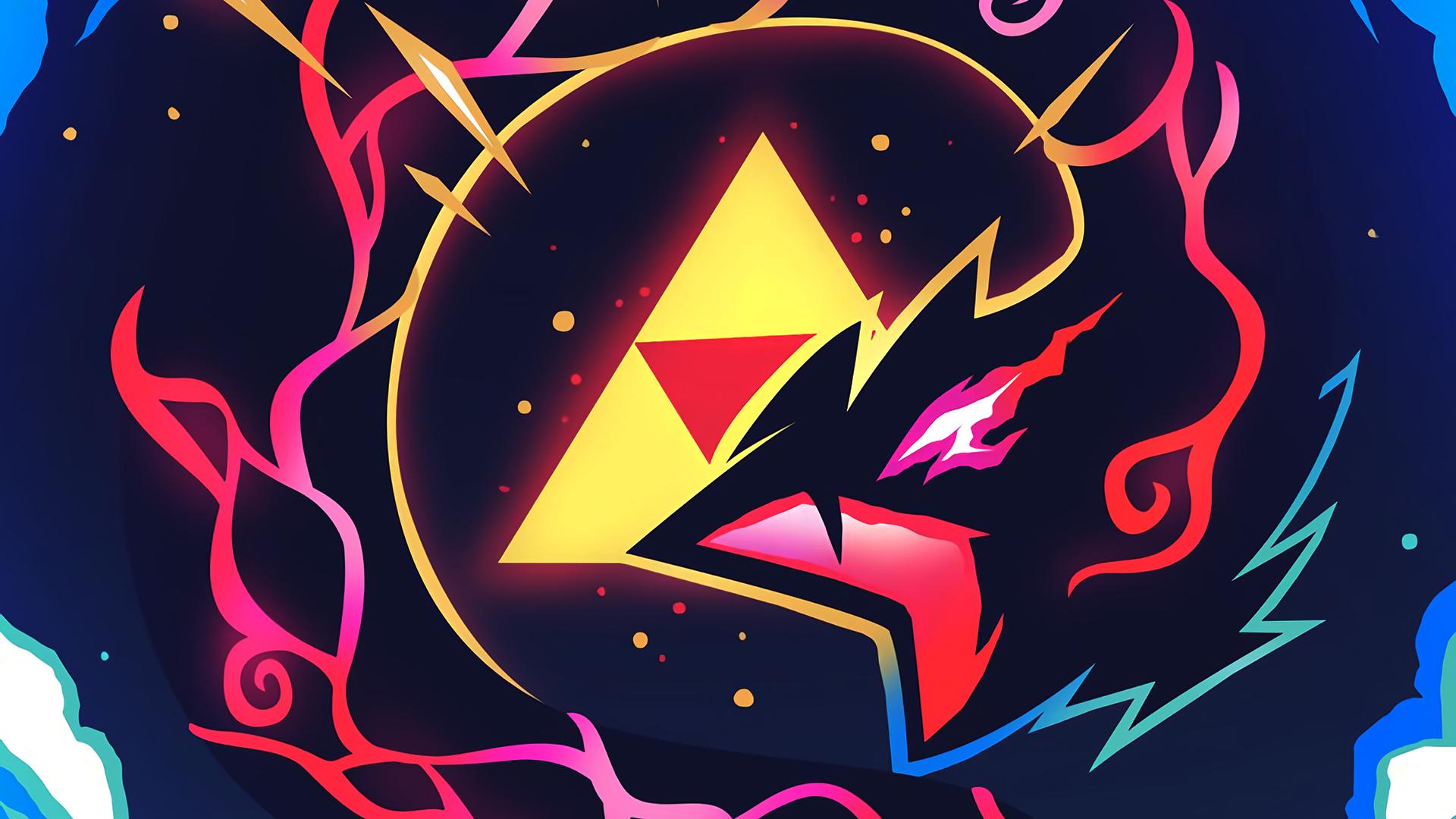 General 1920x1080 digital art dragon triangle colorful Triforce The Legend of Zelda