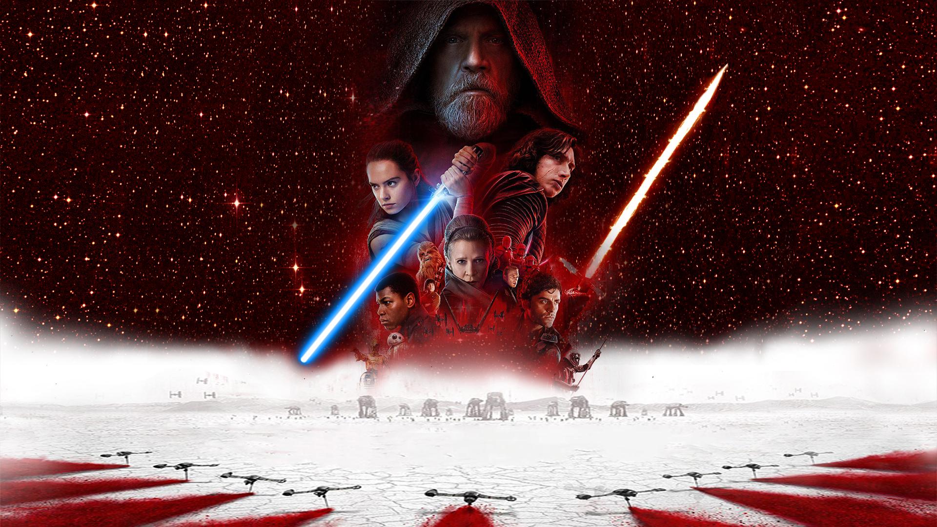 General 1920x1080 Star Wars: The Last Jedi Rey (from Star Wars) Luke Skywalker Princess Leia Kylo Ren lightsaber movies Jedi Star Wars Heroes Star Wars Villains