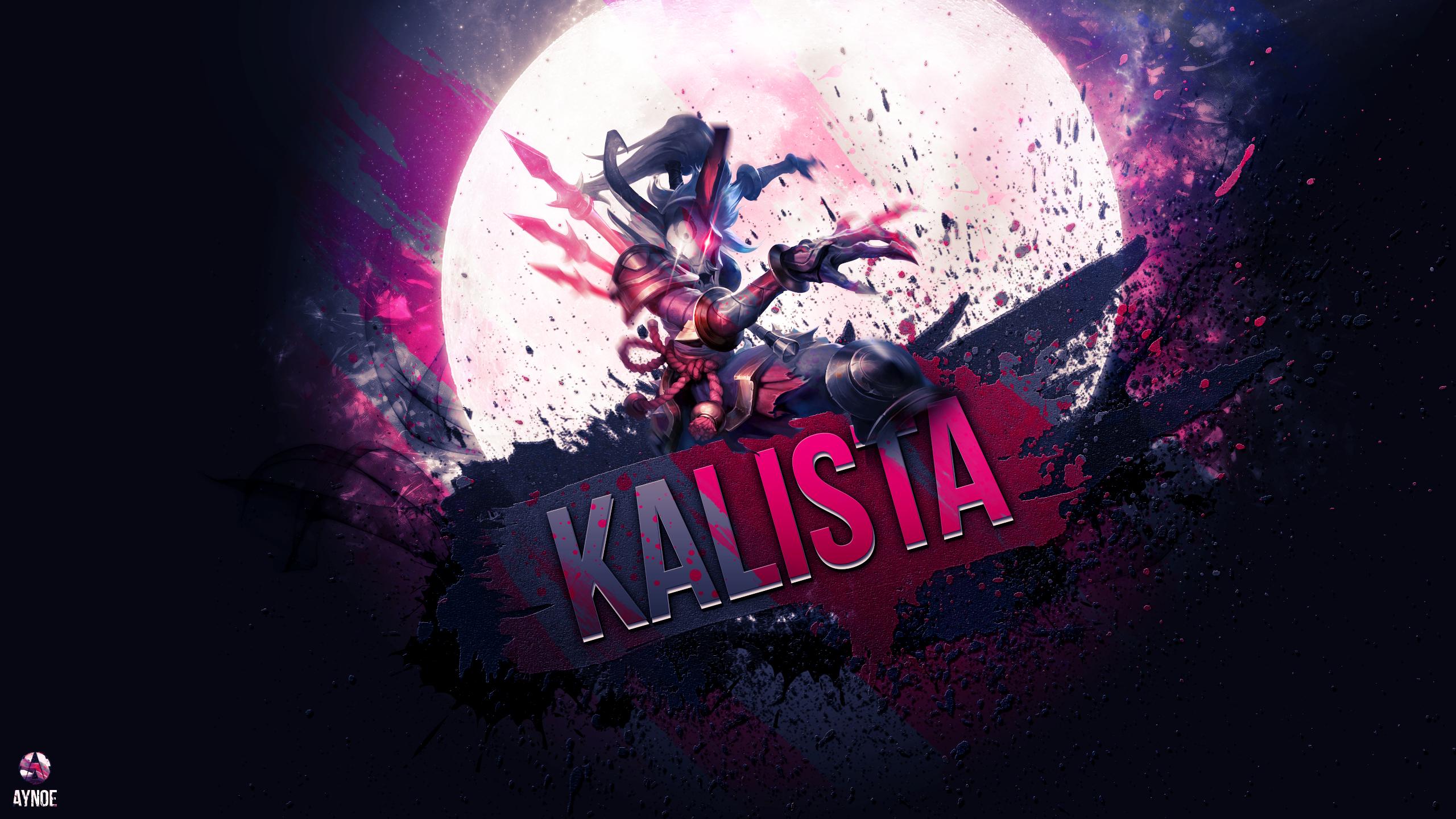 General 2560x1440 League of Legends video games Kalista anime girls