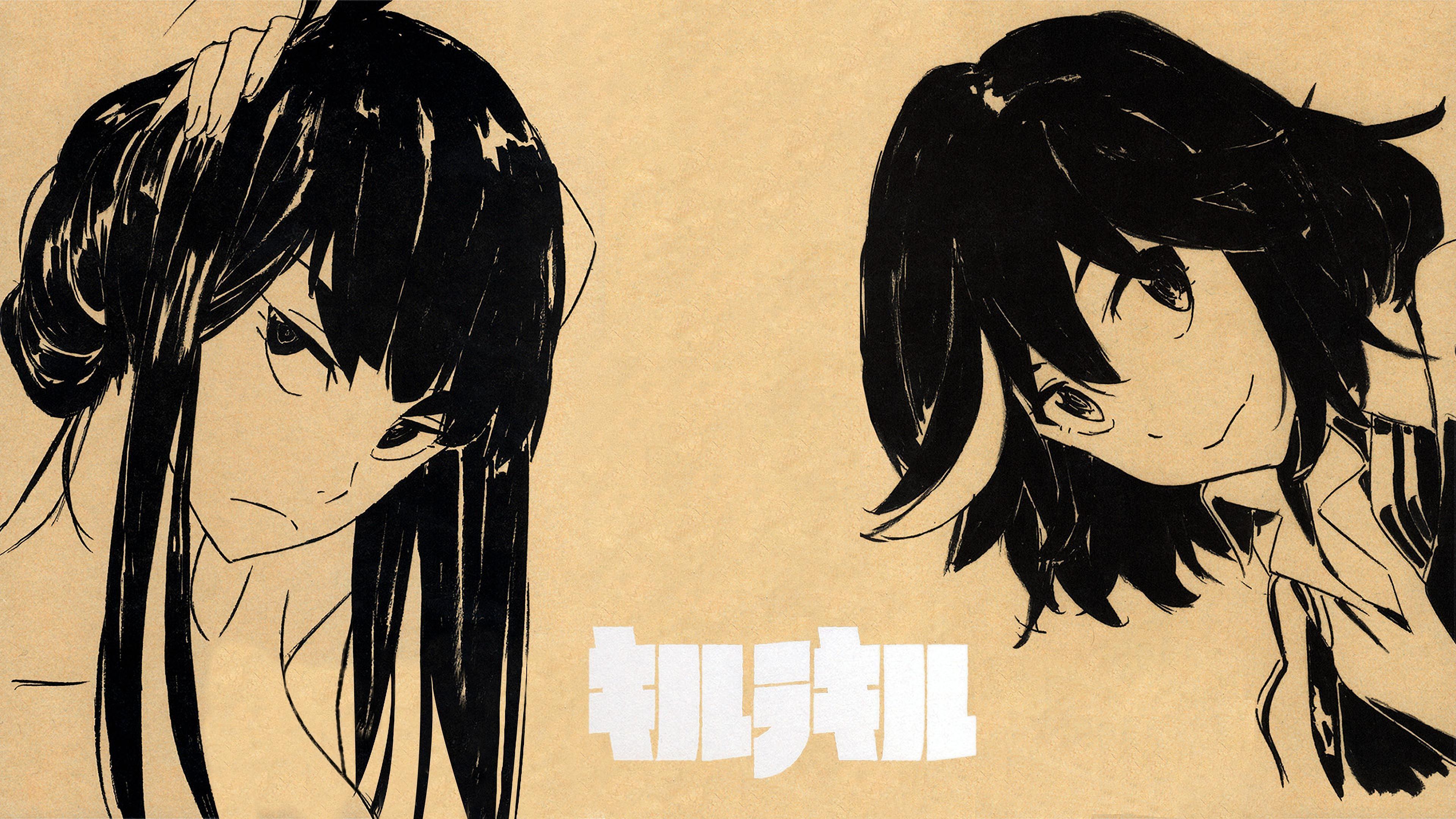 Anime 3840x2160 Kill la Kill Matoi Ryuuko Kiryuin Satsuki anime anime girls black hair