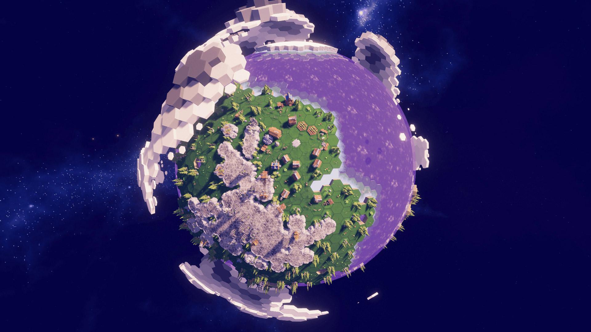 General 1920x1080 Before We Leave artwork digital art planet video games hexagon
