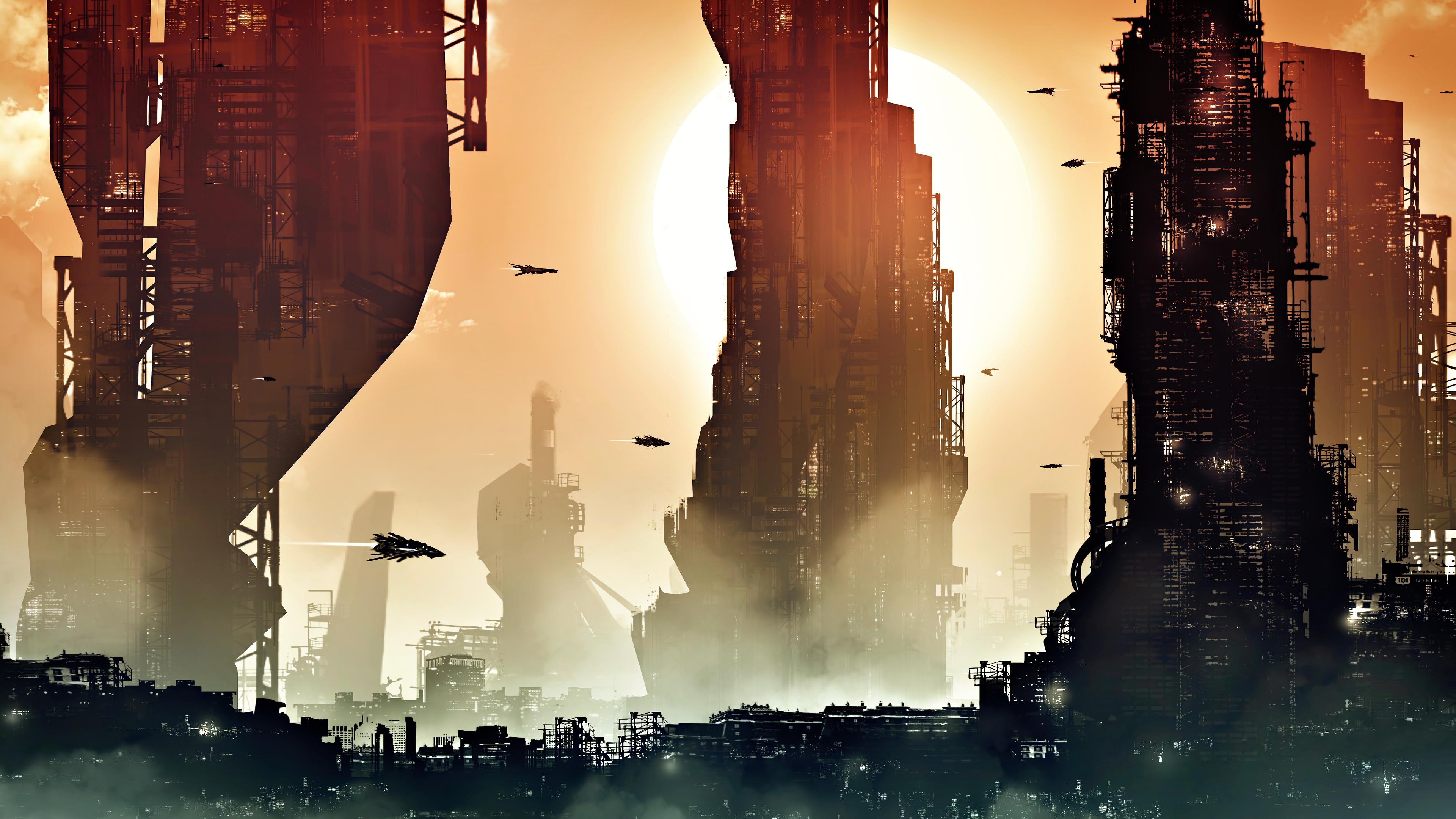 General 3840x2160 futuristic science fiction digital art artwork fantasy art fan art 3D CGI cyberpunk cyber realistic city urban cityscape futuristic city