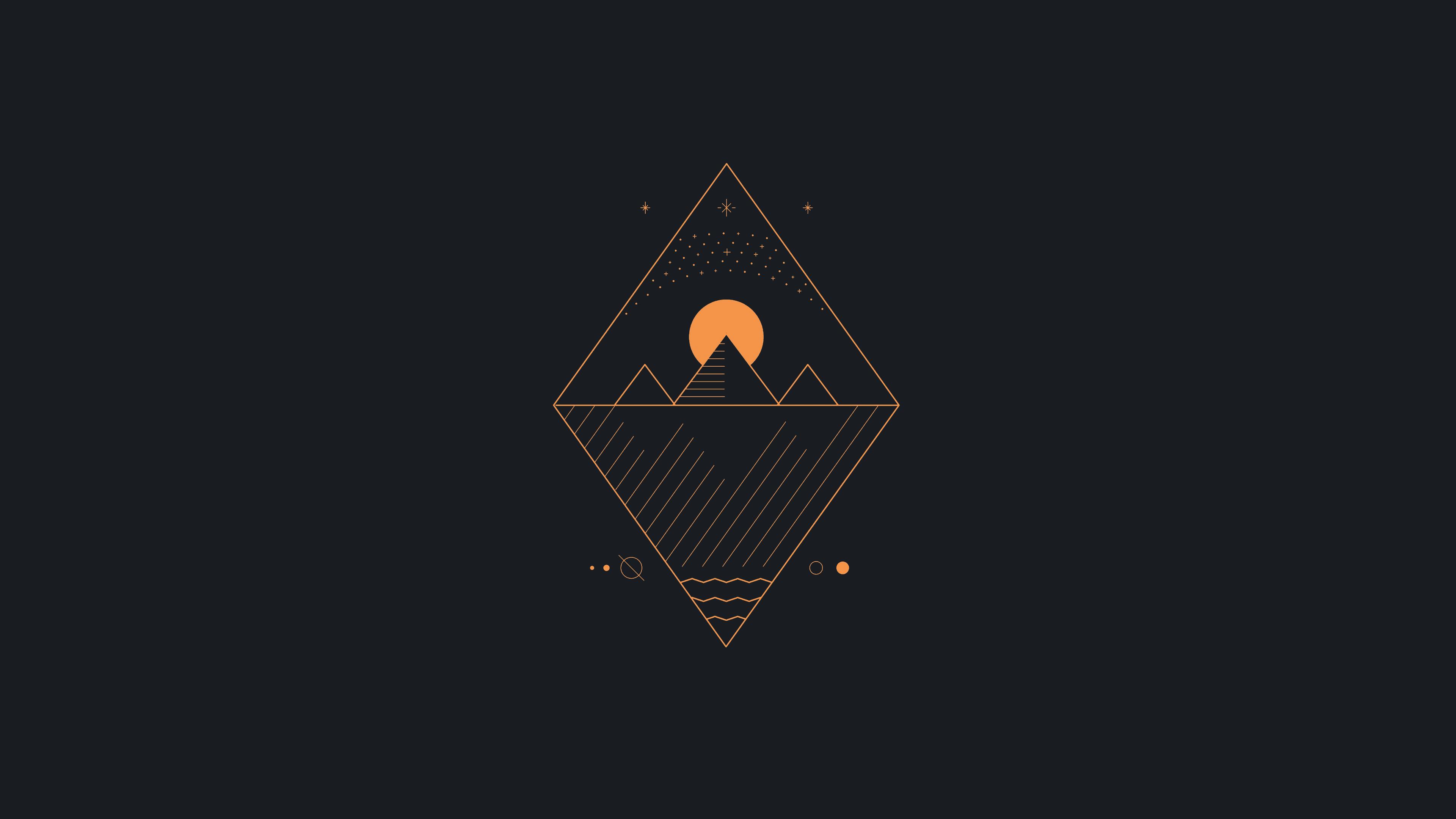 General 3840x2160 abstract minimalism orange simple background simple black background