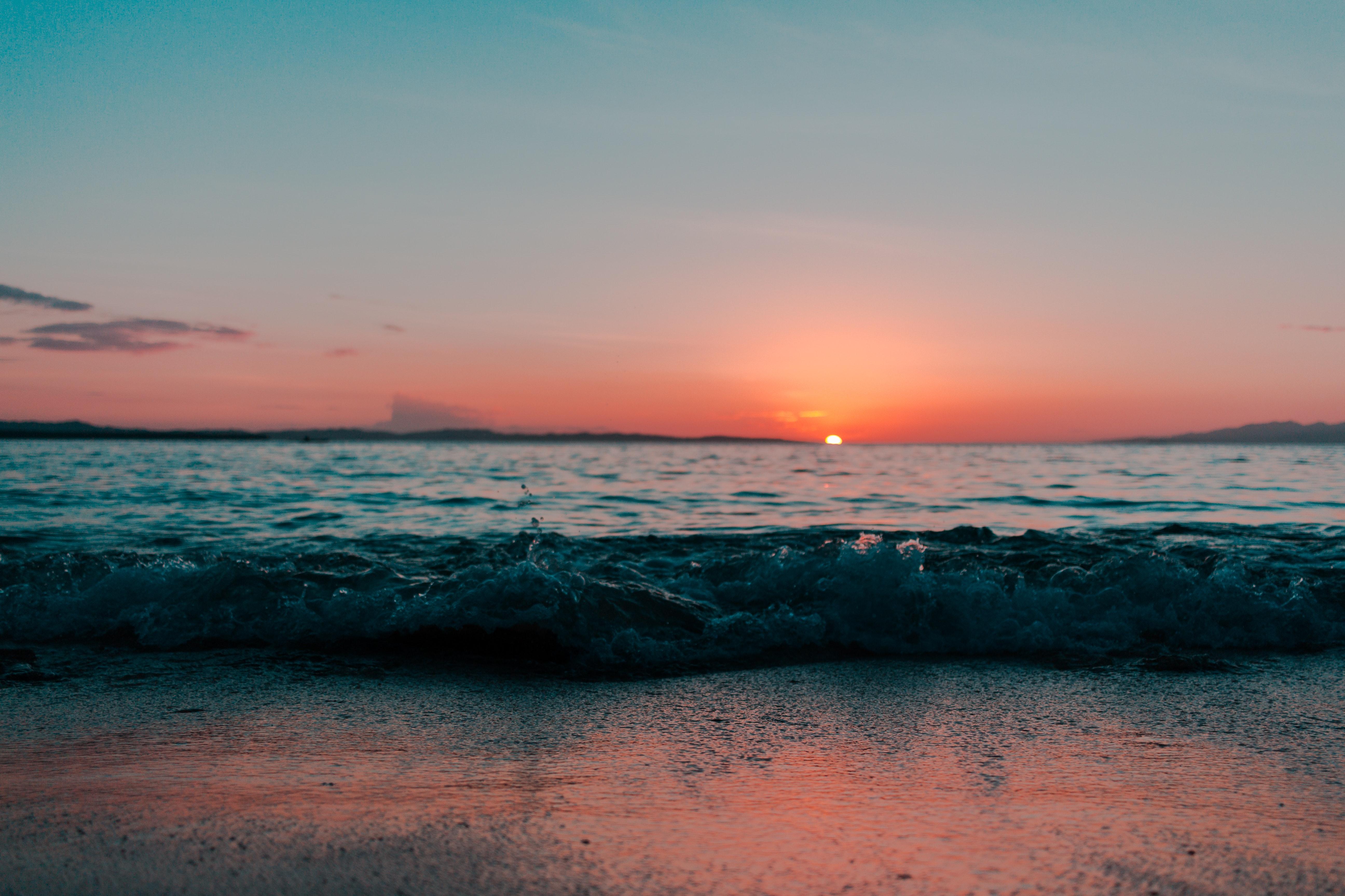 General 5184x3456 landscape waves sunset sea depth of field beach