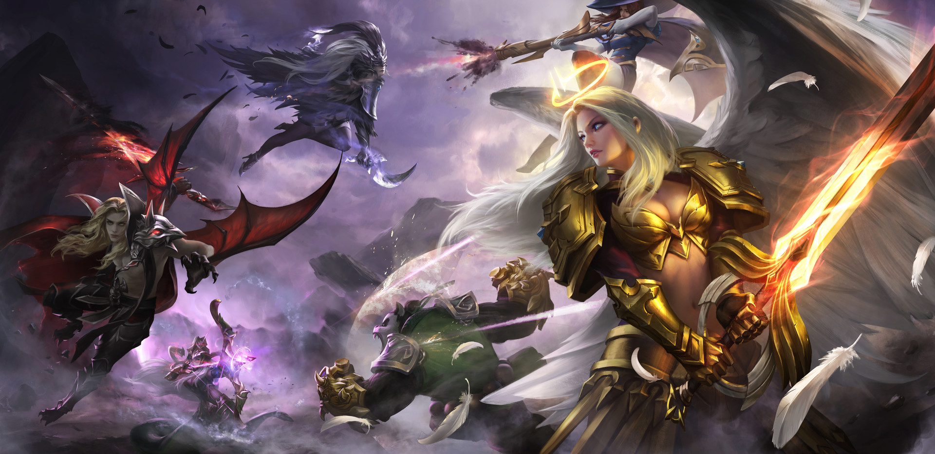 General 1920x934 fantasy girl battle fantasy art artwork Mobile Legends video games