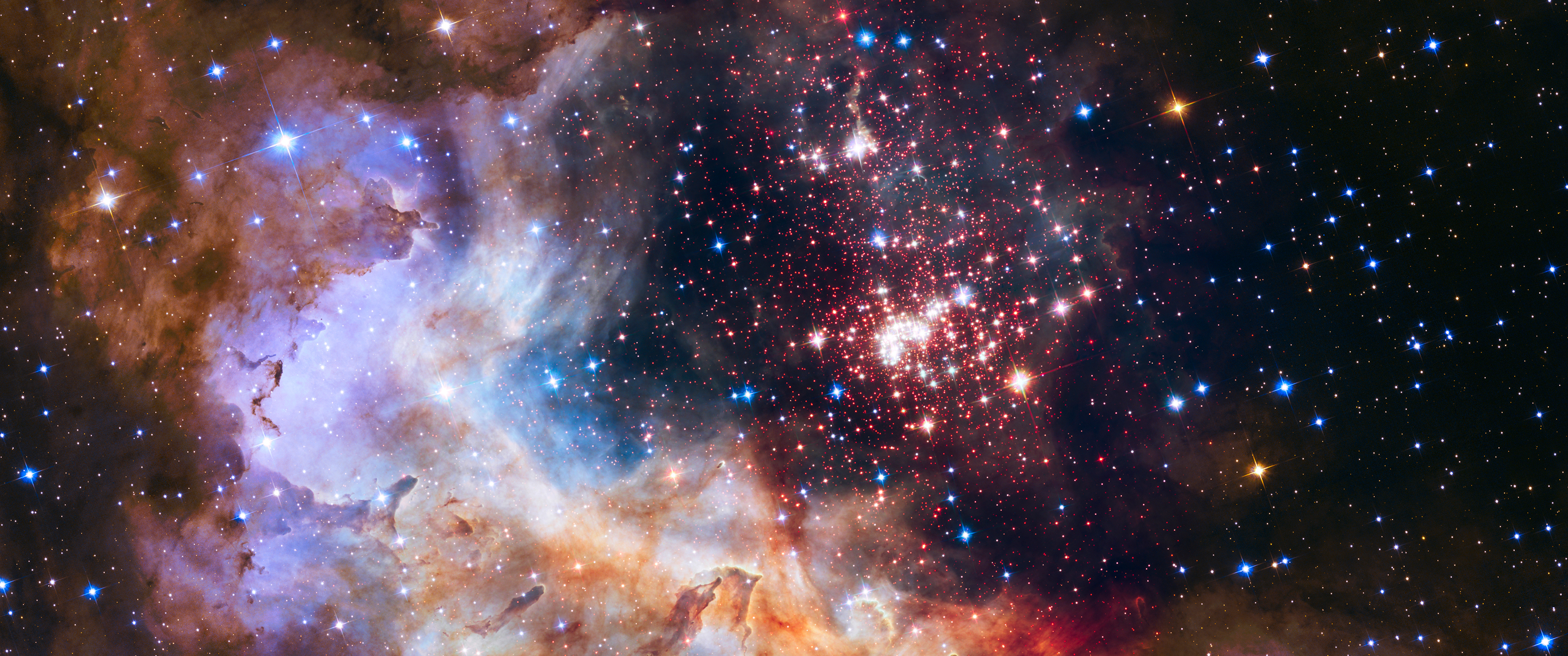 General 3440x1440 space stars space clouds clouds