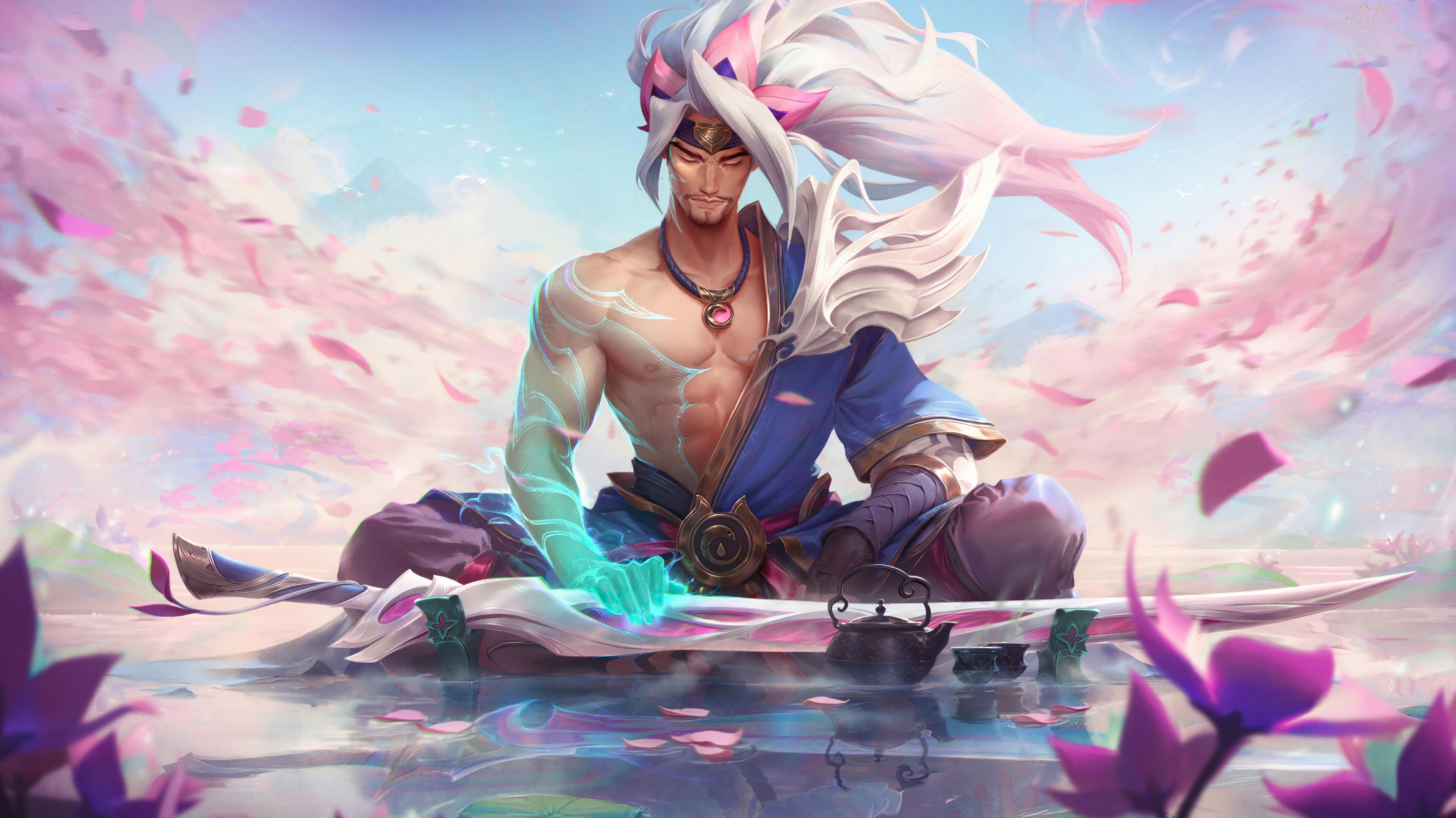 General 3840x2160 spirit blossom Yasuo Yasuo (League of Legends) League of Legends Riot Games