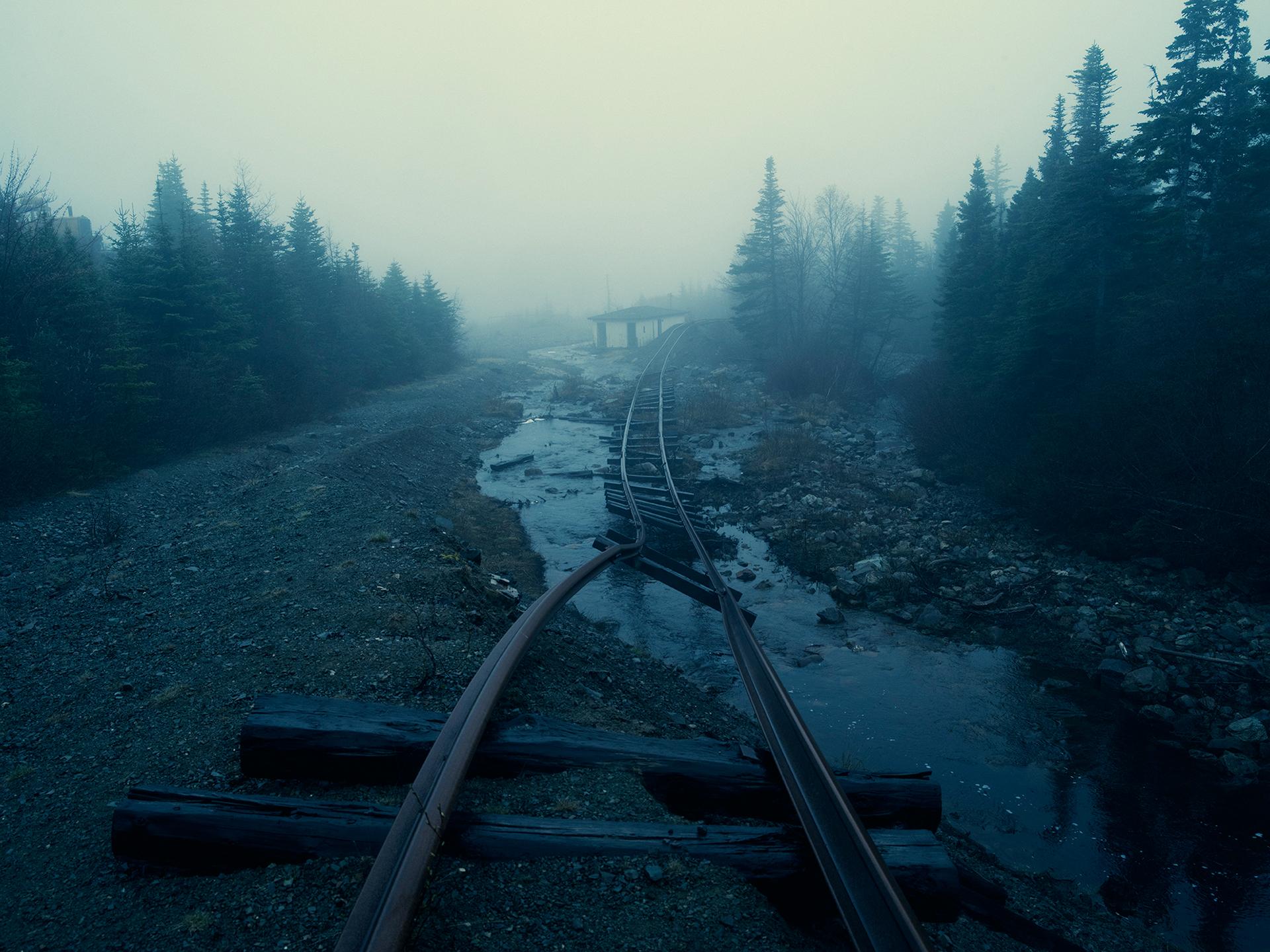 General 1920x1440 forest railway abandoned mist ruin ruins gloomy