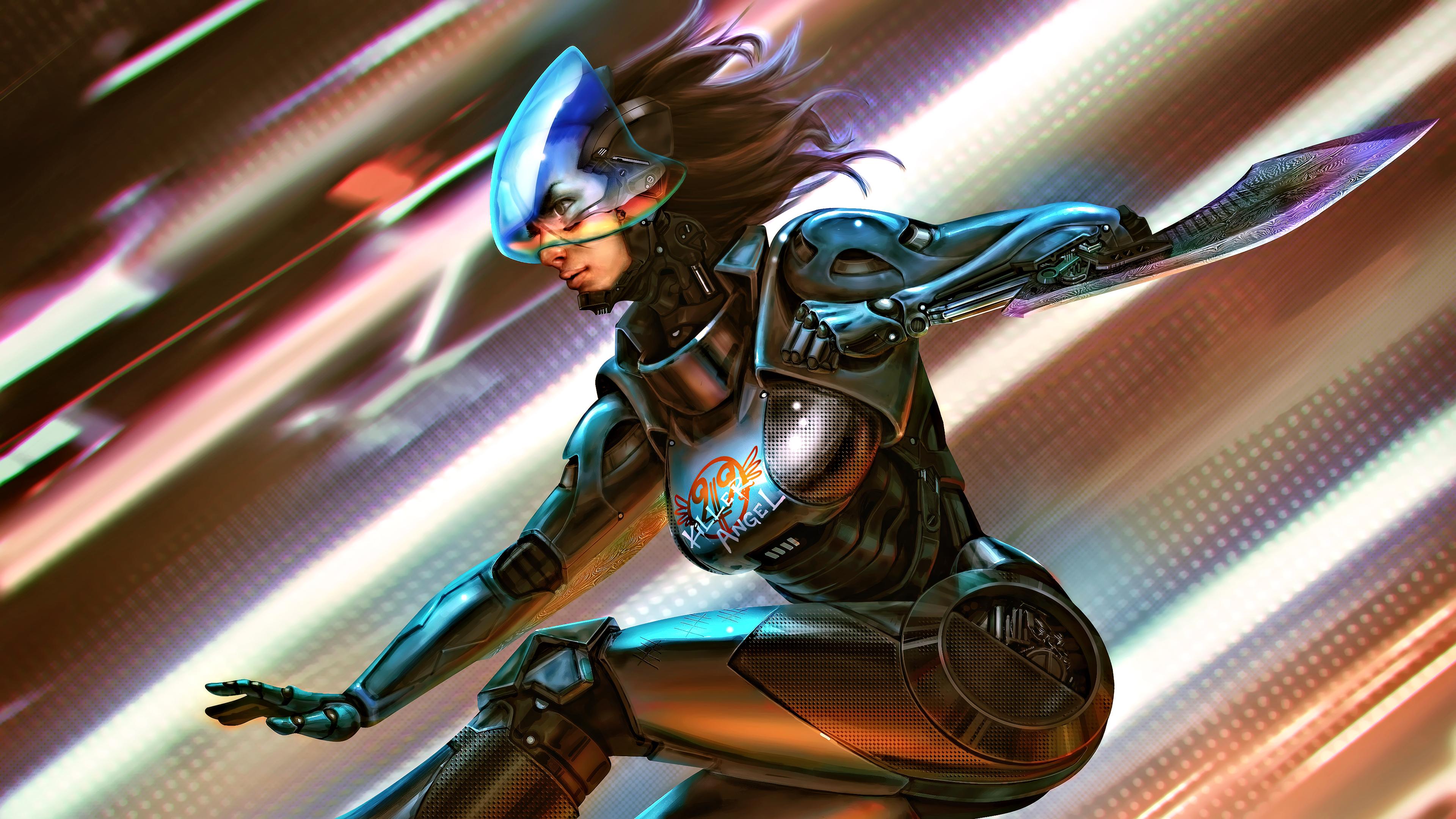 General 3840x2160 science fiction digital art concept art artwork futuristic fantasy art fan art 3D CGI Alita Battle Angel Alita Alita: Battle Angel cyber cyberpunk fantasy girl women warrior Gally