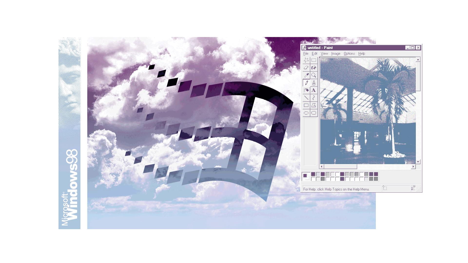 General 1920x1080 digital digital art Microsoft artwork floral shoppe vaporwave Microsoft Windows