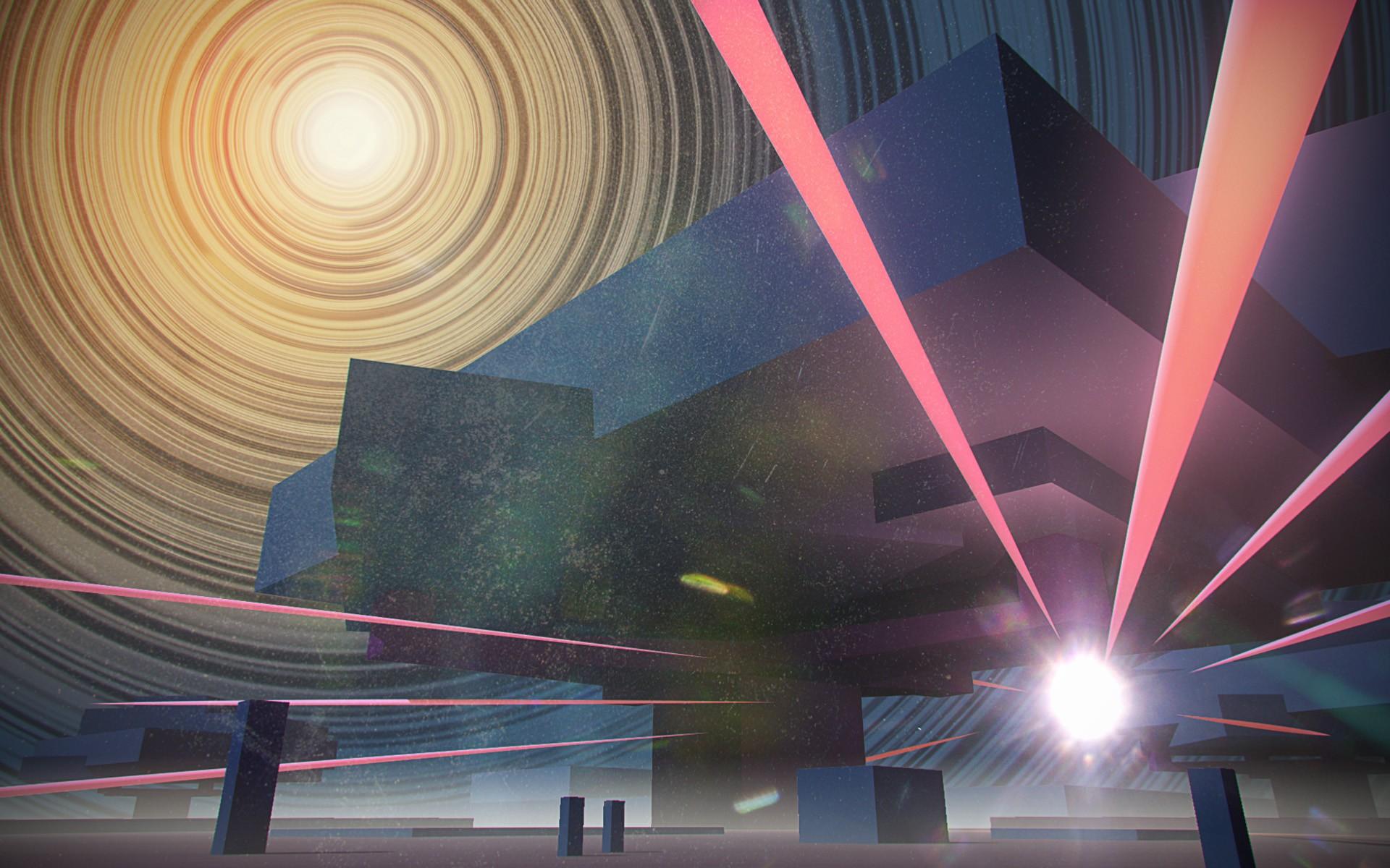 General 1920x1200 CGI futuristic artwork digital art abstract 3D render retro science fiction
