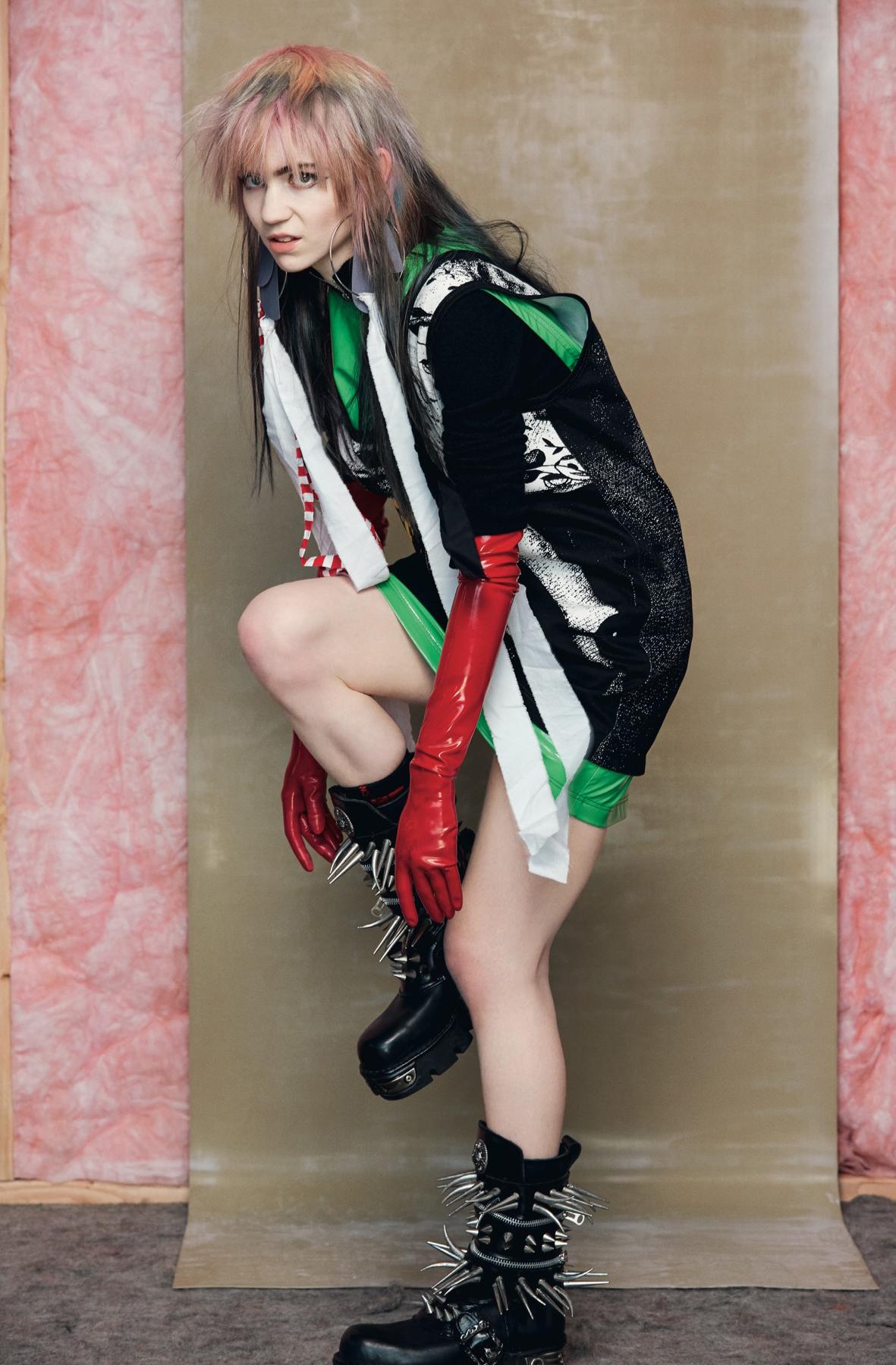 People 1181x1800 Grimes women singer dyed hair legs women indoors