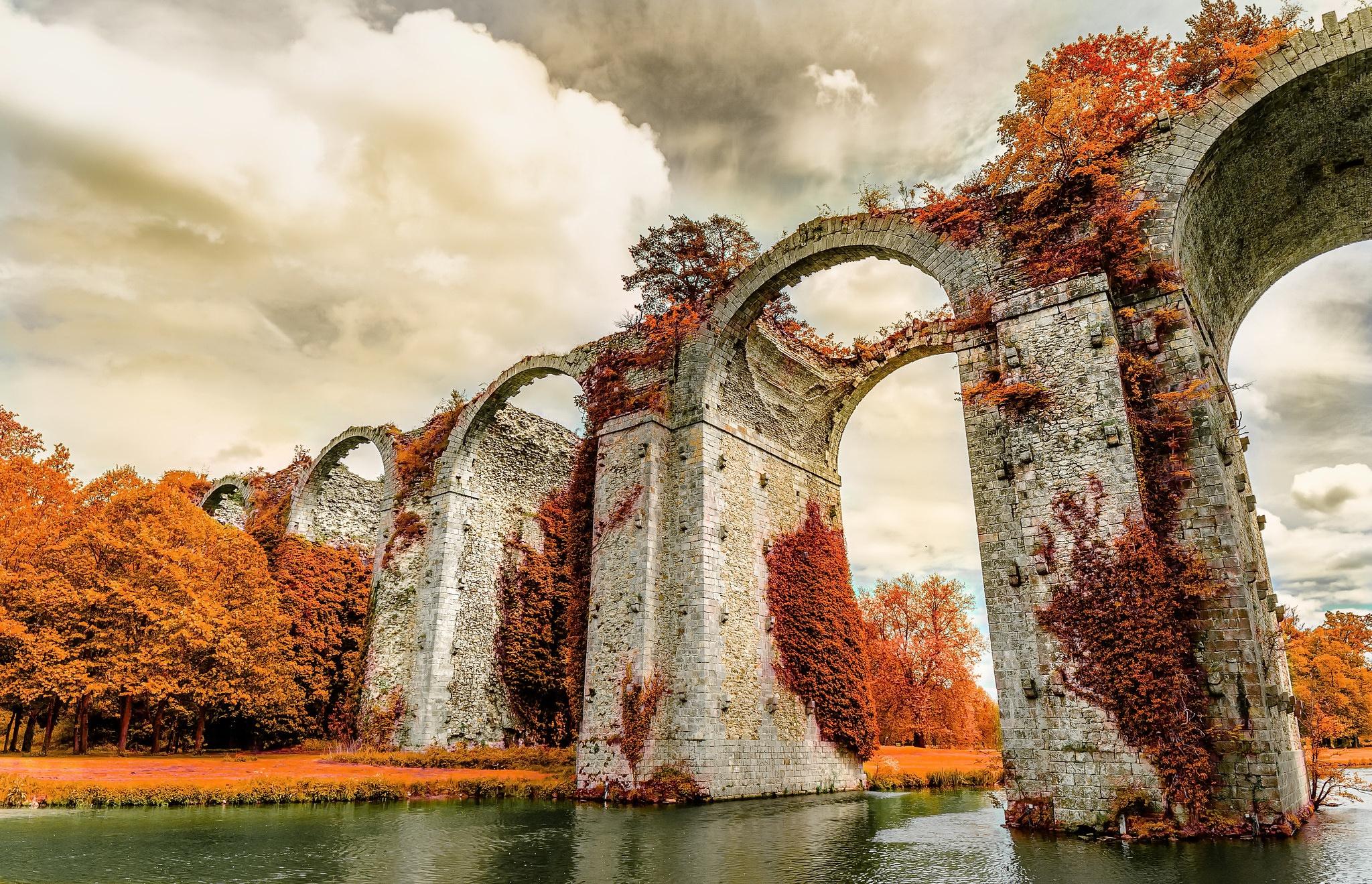 General 2048x1319 France Aqueduct Maintenon outdoors river fall