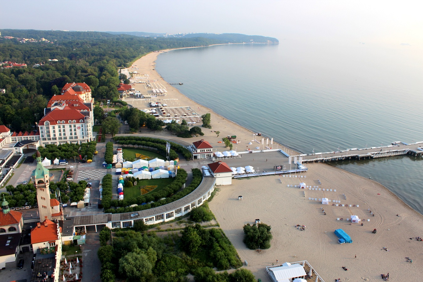 General 1349x900 Sopot Poland high angle beach pier town resort aerial view