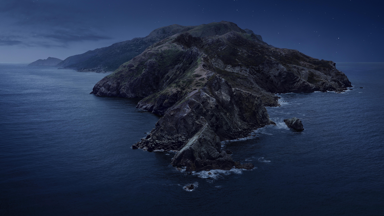 General 6000x3375 nature landscape water sea night stars cliff island rock waves Catalina Island