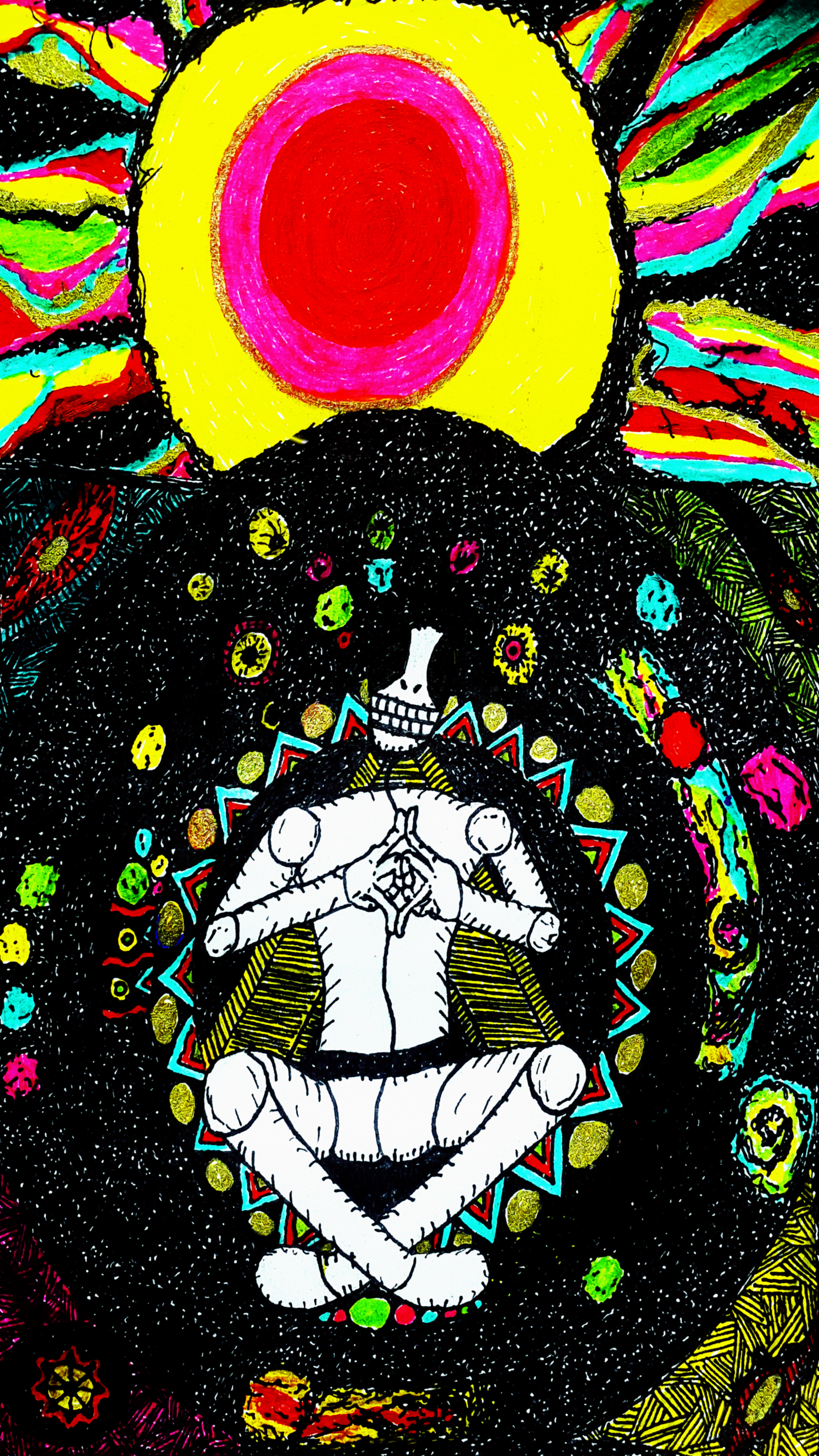 General 2988x5312 space stars universe Color Burst colorful Colors (Album) spiritual mistery eyes galaxy people meditation psychedelic trippy drawing sketches pen