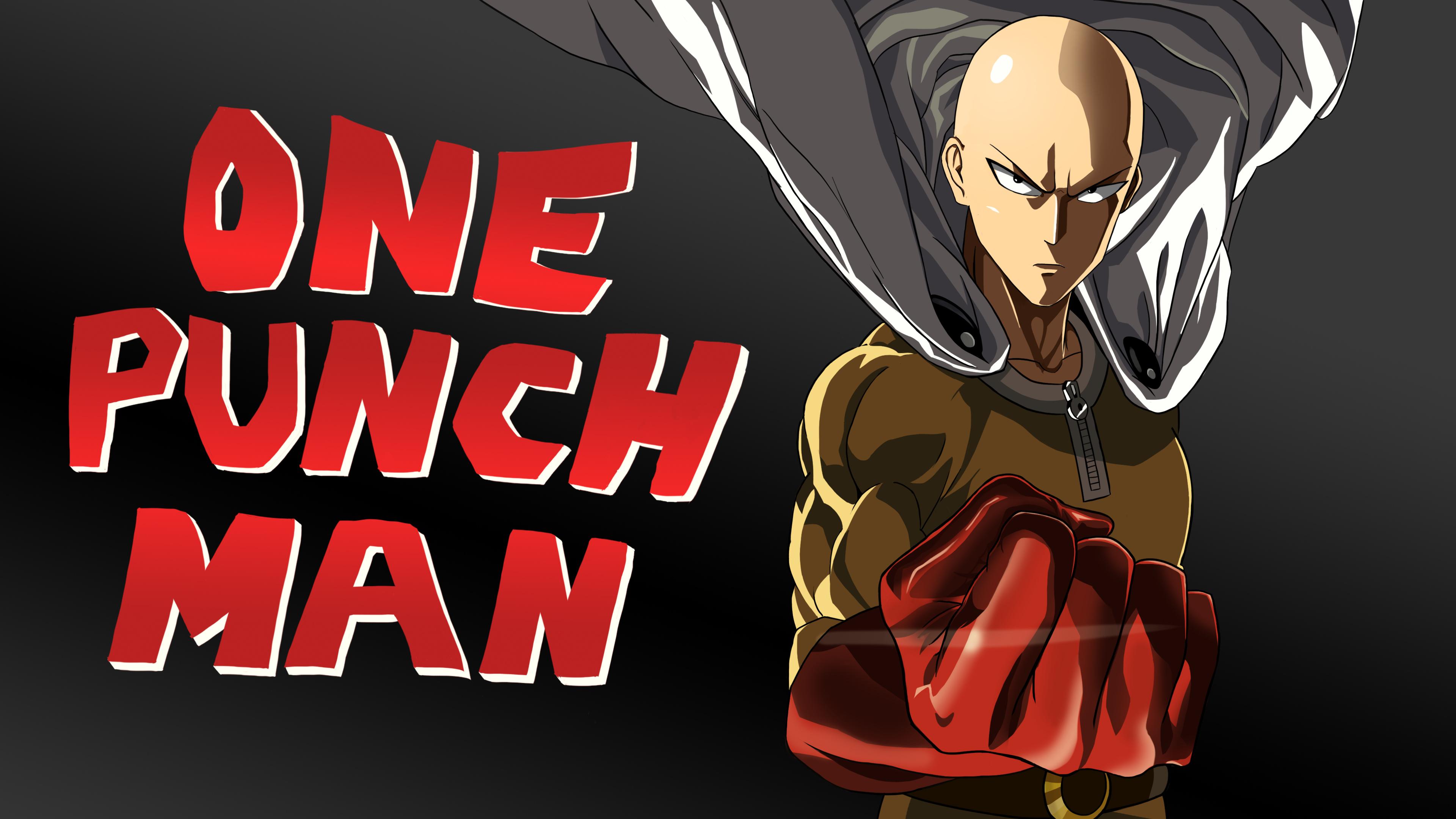 Anime 3840x2160 anime anime boys One-Punch Man artwork Saitama superhero dark background