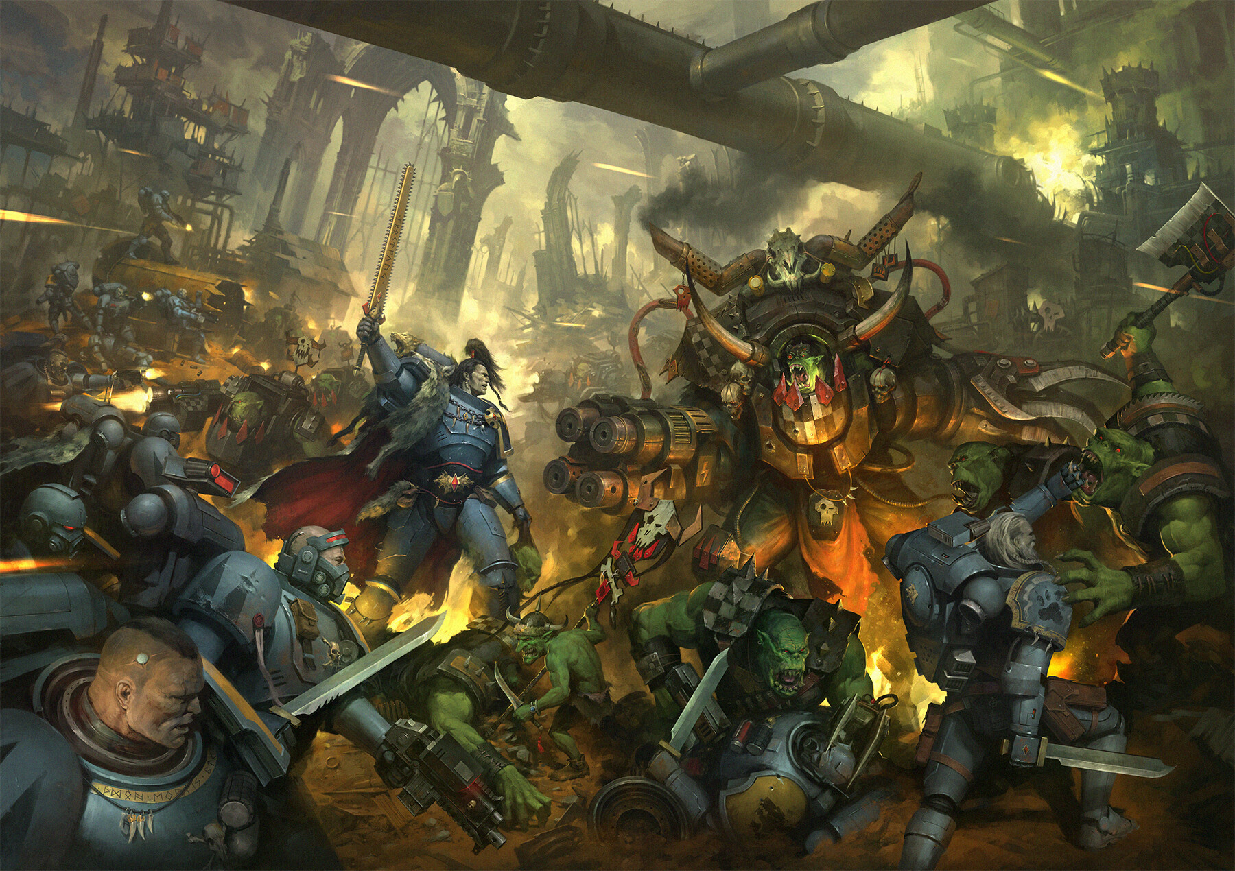 General 1800x1270 Warhammer 40,000 Games Workshop Space Marine space marines ork orks Waaaaagghhh space wolves