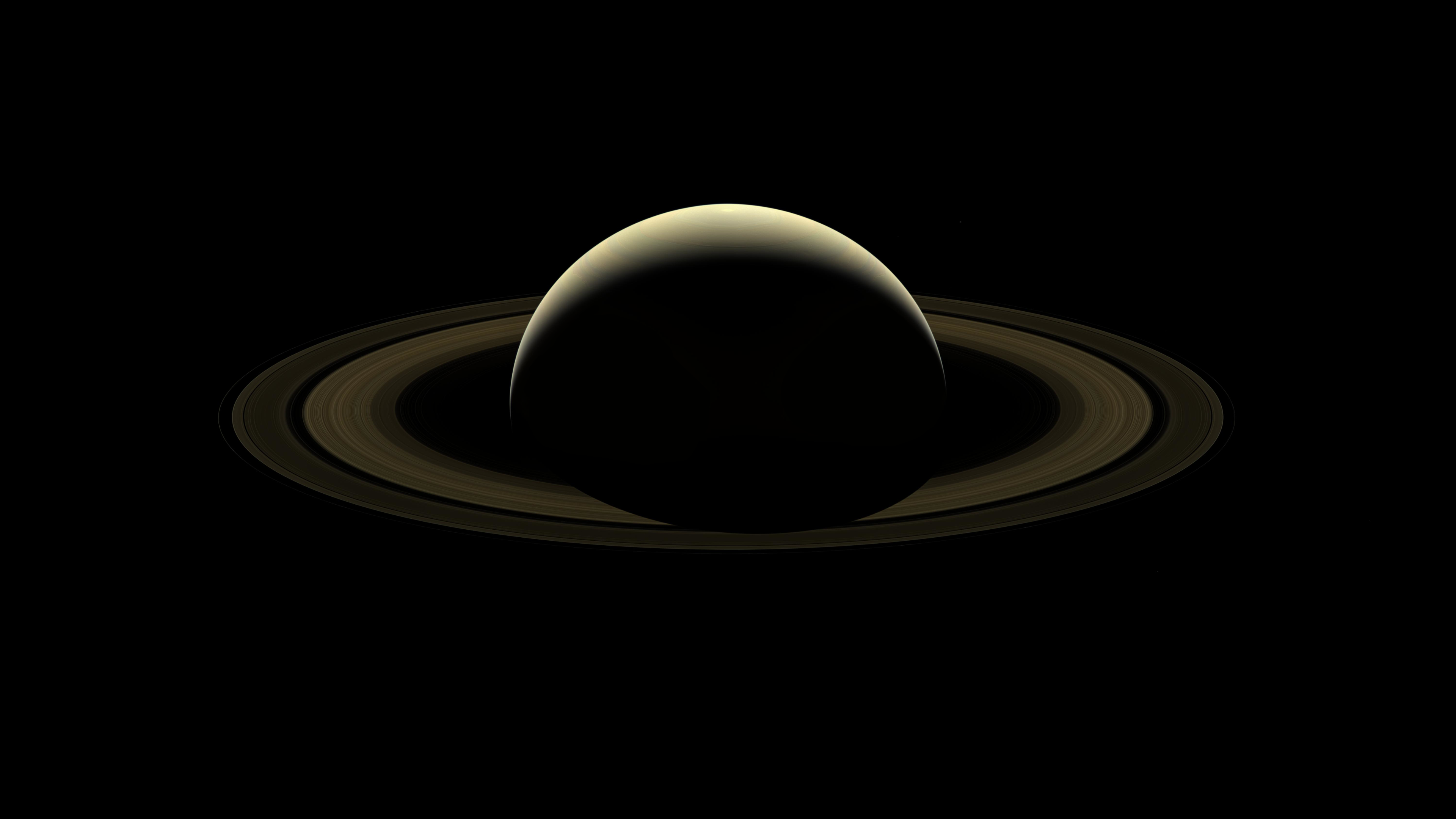 General 3840x2160 planet space NASA nature Saturn Solar System dark background minimalism