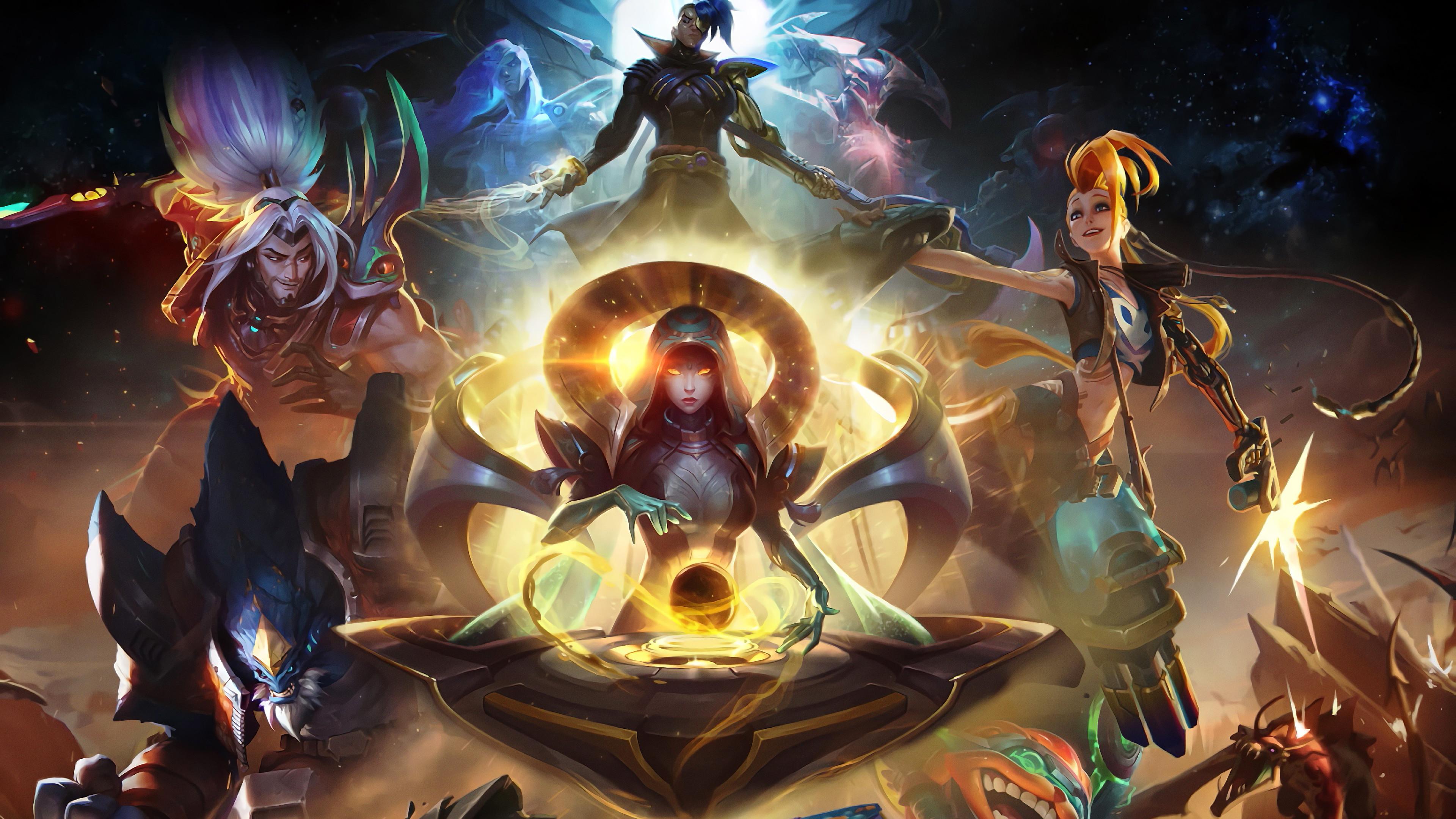 General 3840x2160 League of Legends Jinx Malphite Kayn Yasuo sona Ziggs video games