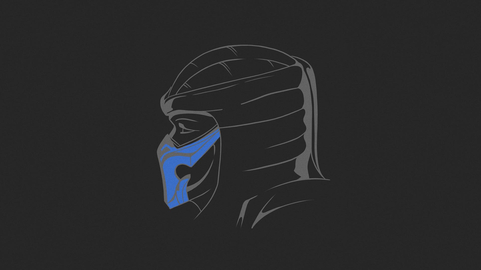 General 1920x1080 Mortal Kombat Mortal Kombat 11 simple simple background Sub Zero