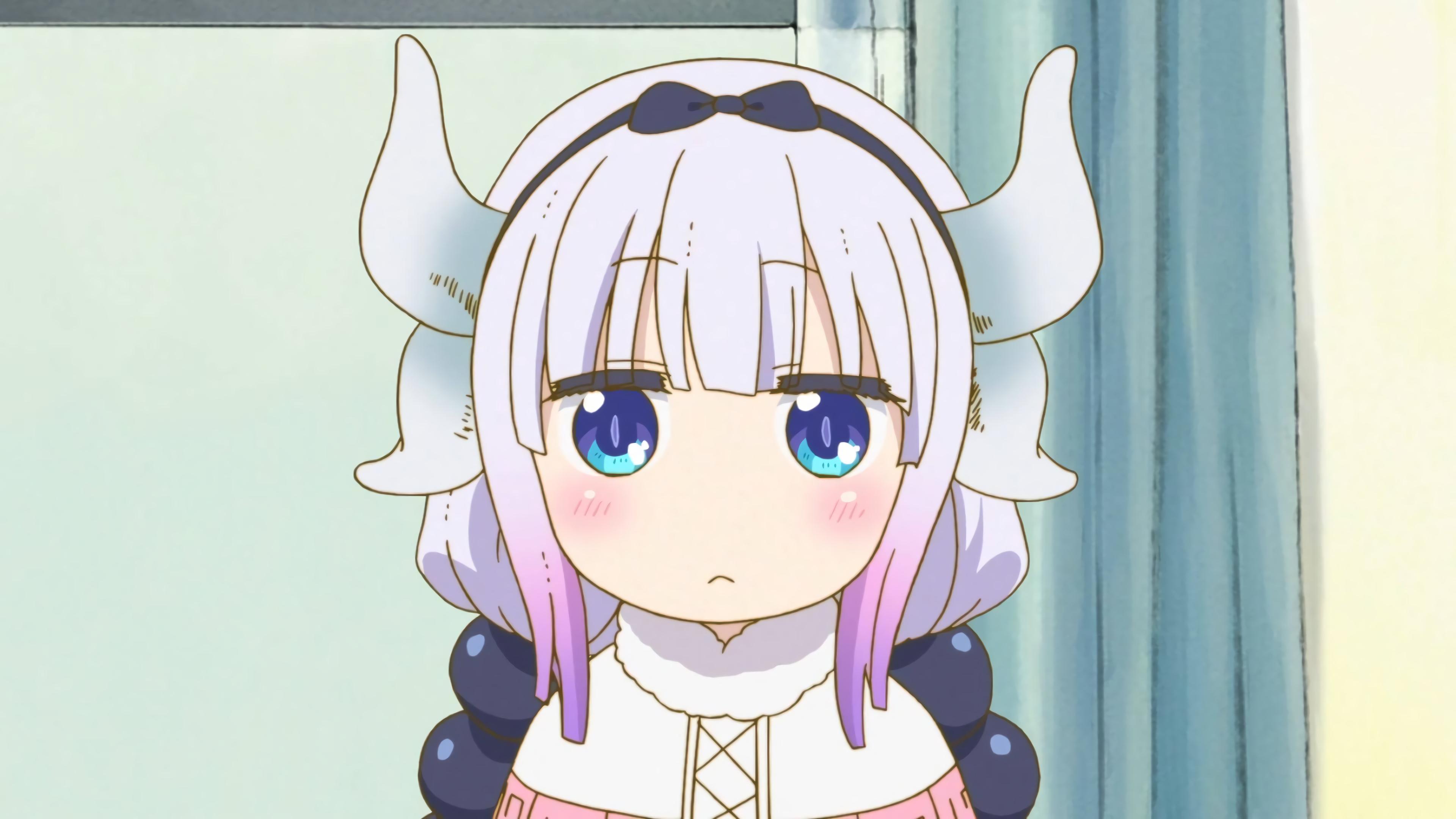 Anime 3840x2160 Kobayashi-san Chi no Maid Dragon Kanna Kamui (Kobayashi-san Chi no Maid Dragon) Vector trace