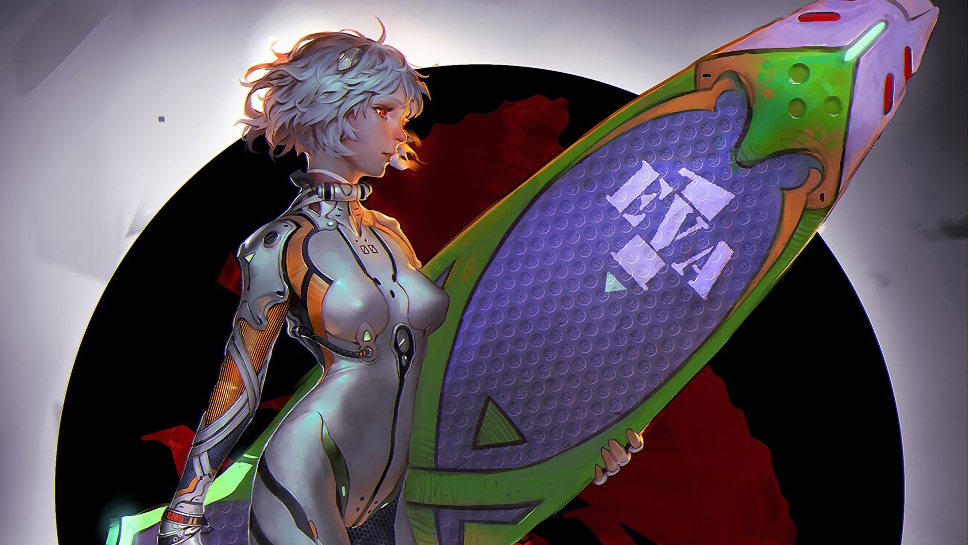 Anime 1920x1080 Neon Genesis Evangelion Eva Ayanami Rei surfboards