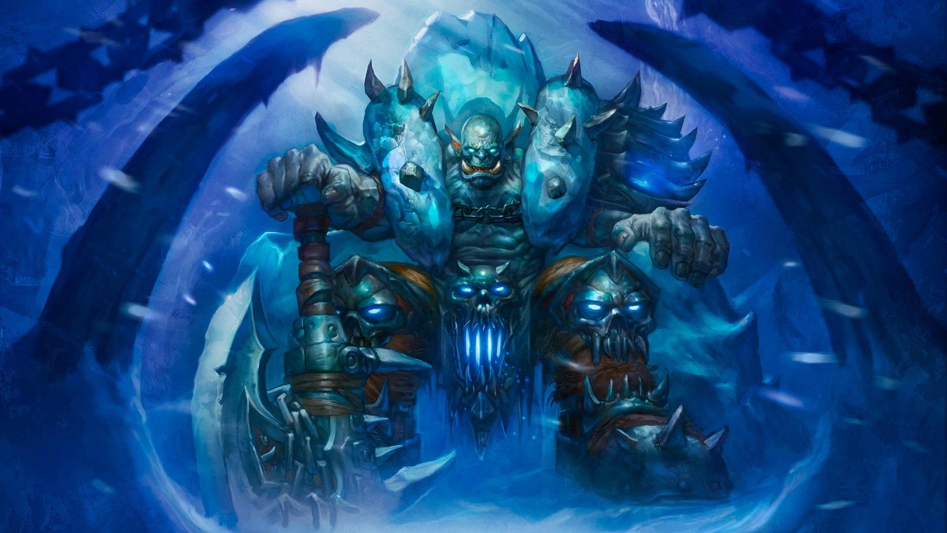 General 1920x1080 Hearthstone: Heroes of Warcraft Hearthstone Warcraft cards artwork Knights of the frozen throne Death Knight Garrosh Hellscream video games