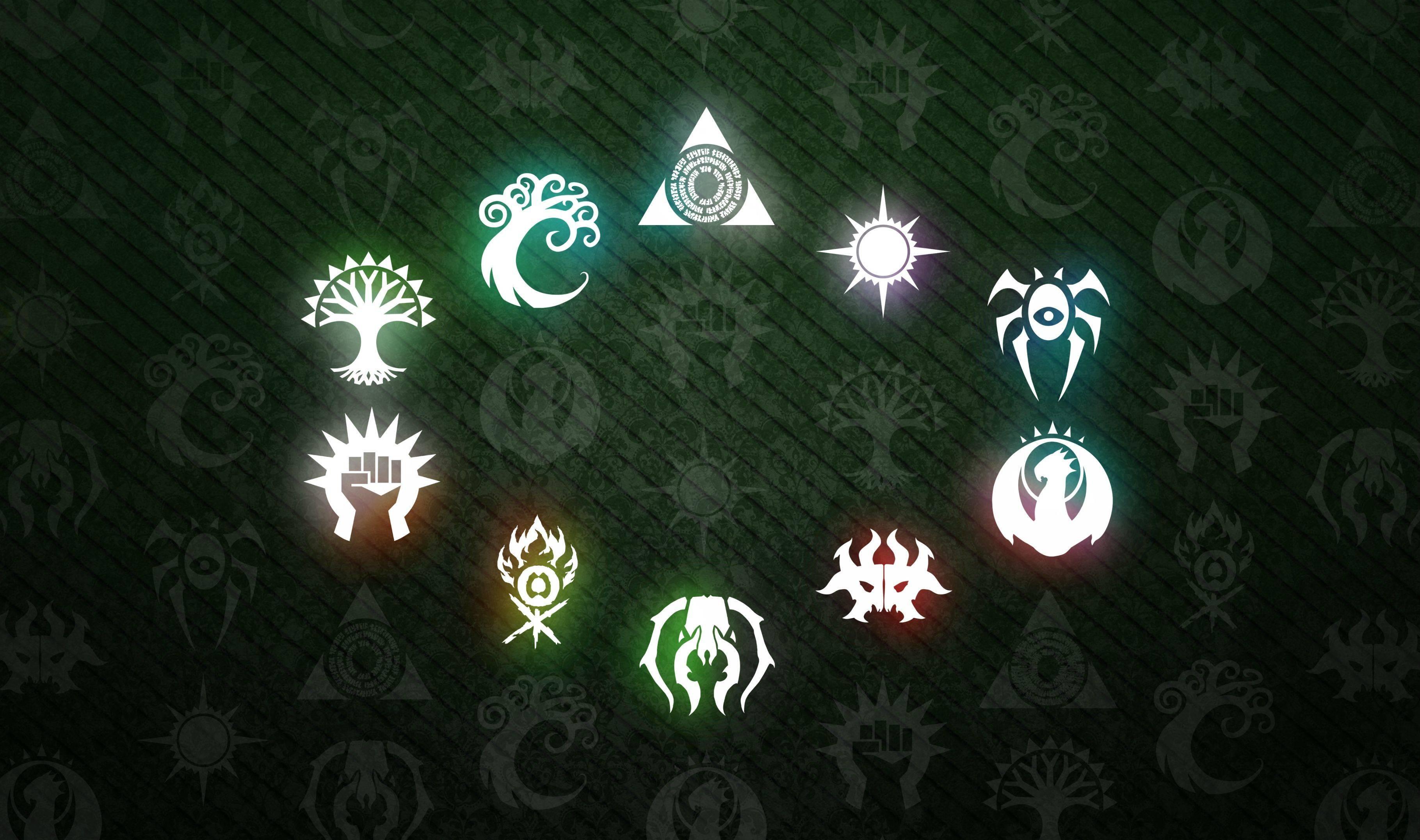 General 3638x2153 symbols trees fire dragon skull Magic: The Gathering Boros Izzet