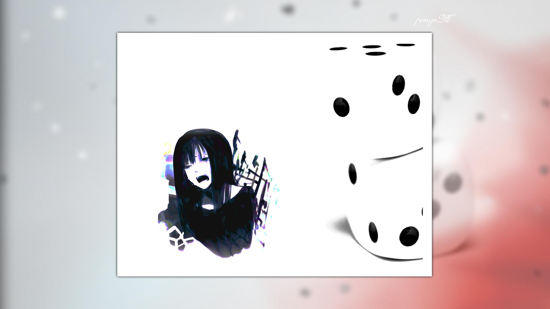Anime 1920x1080 simple simple background dice anime girls anime