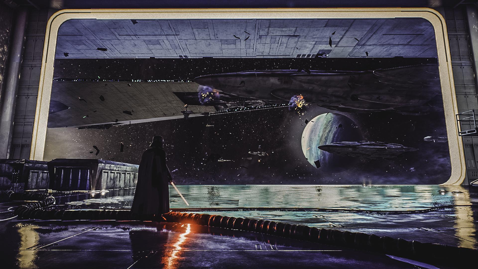 General 1920x1080 digital art artwork Star Wars Darth Vader movies destruction Star Wars Villains Imperial Forces Sith Star Wars Ships