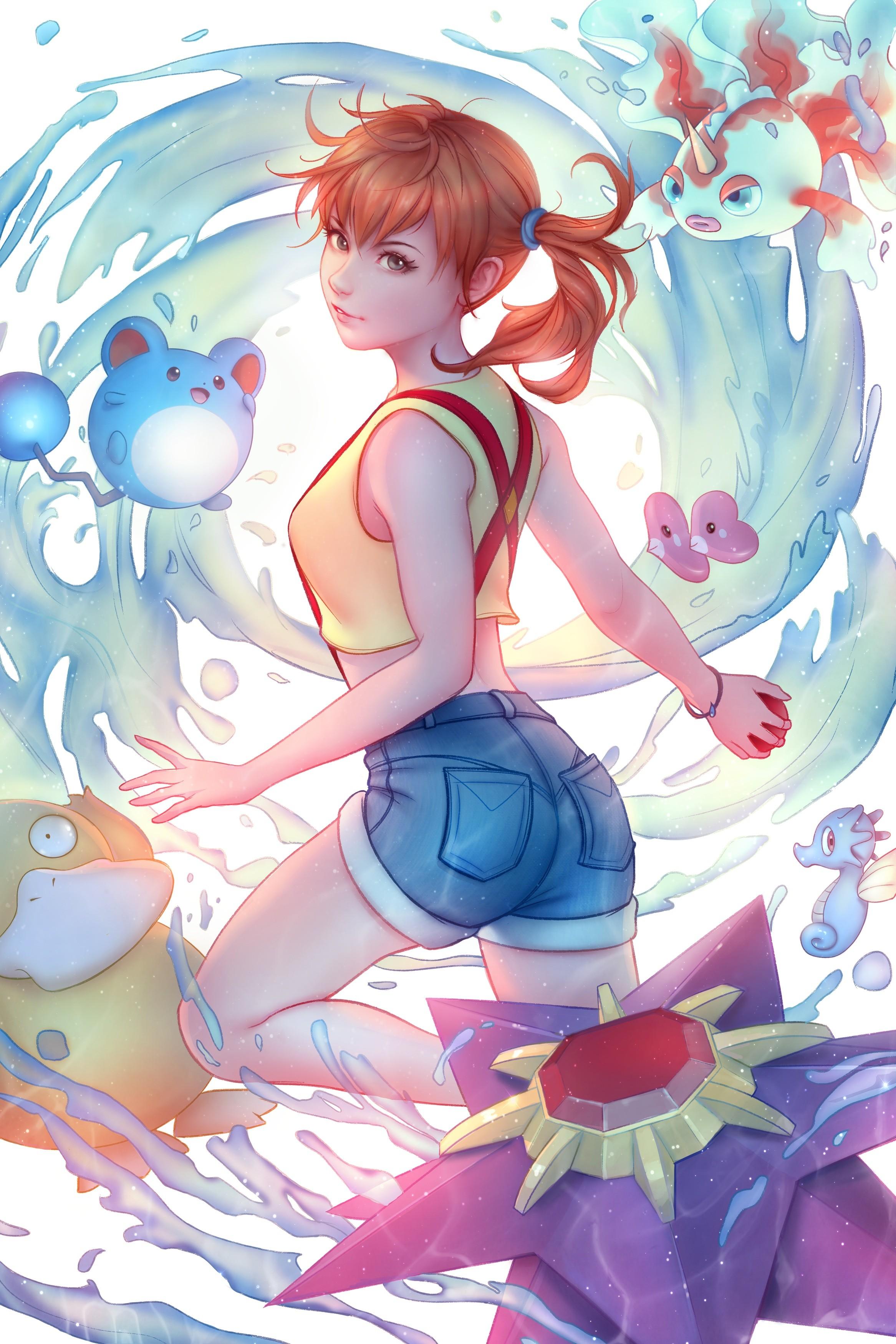 ass, redhead, legs, Jonathan Hamilton, anime, anime girls