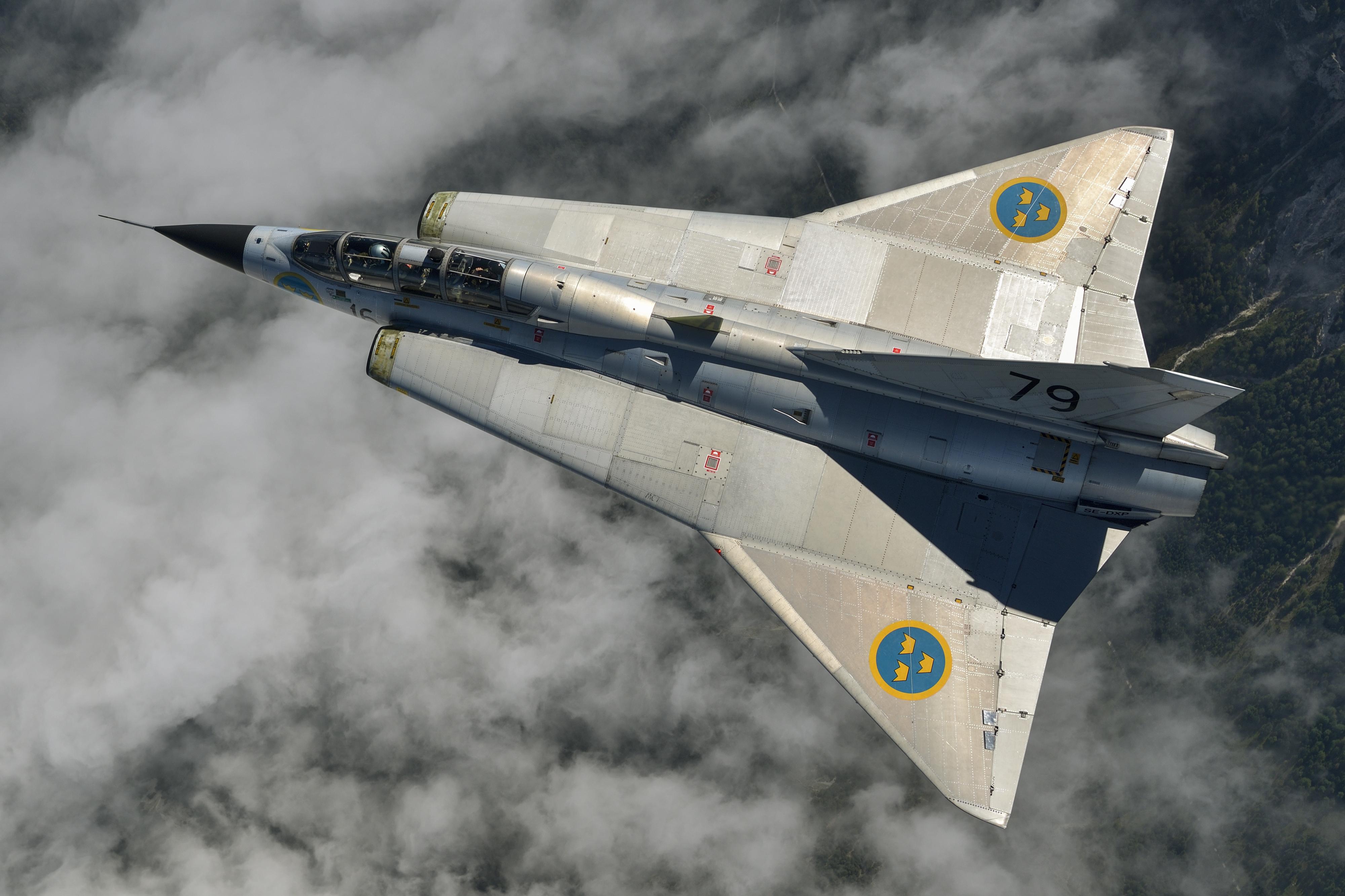 General 4000x2666 military Swedish Air Force Saab 35 Draken military aircraft aircraft vehicle