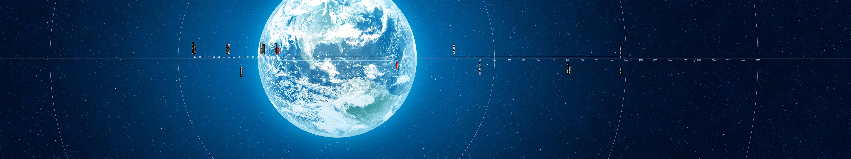 General 5760x1080 space space art planet digital art